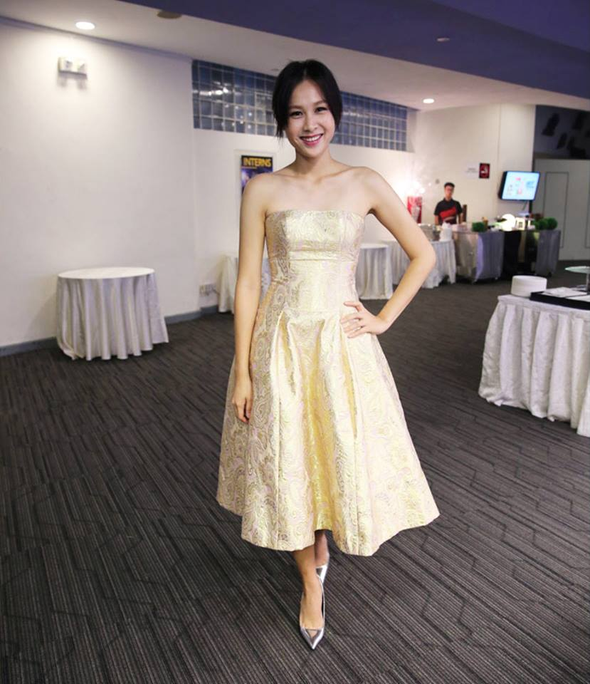 Star Awards 2015 - Ya Hui: Jessicacindy Aureate Dress
