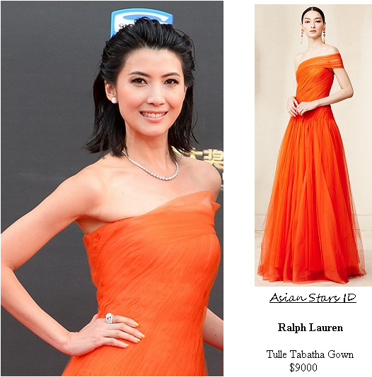 Star Awards 2015 S2 - Jeanette Aw: Ralph Lauren Tulle Tabatha Gown $9000