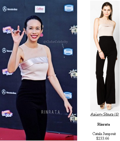 Star Awards 2015 S2 - Karen Mok: Rinrata Catala Jumpsuit $233.66