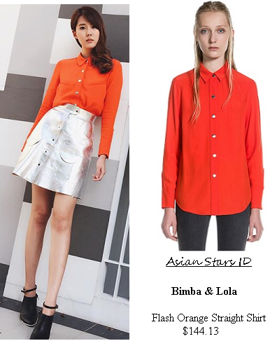 Sealed With A Kiss - Carrie Wong: Bimba & Lola Flash Orange Straight Shirt $144.13