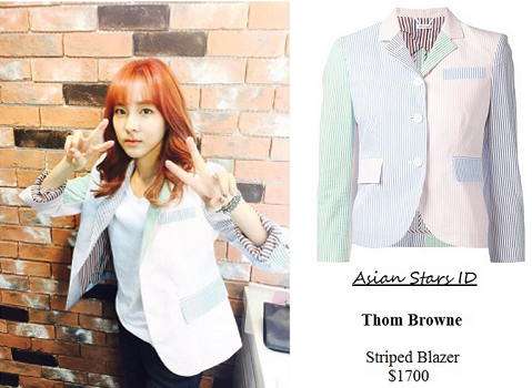 Instagram - Dara (2NE1): Thom Browne Striped Blazer $1700