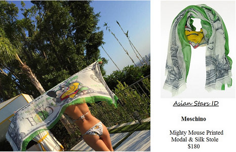 Instagram - CL (2NE1): Moschino Mighty Mouse Printed Modal & Silk Stole $180