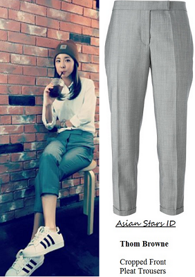 a2331a3c163 Instagram - Dara (2NE1) Thom Browne Cropped Front Pleat Trousers
