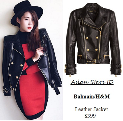Instagram - Carrie Wong: Balmain/H&M Leather Jacket $399