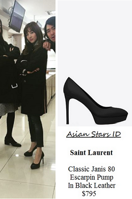 Instagram - Dara (2NE1): Saint Laurent Classic Janis 80 Escarpin Pump In Black Leather $795