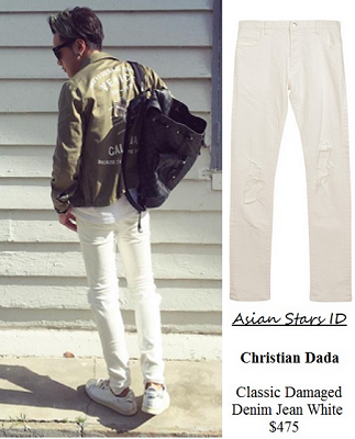 The Dream Makers 2 - Ian Fang: Christian Dada Classic Damaged Denim Jean White $475