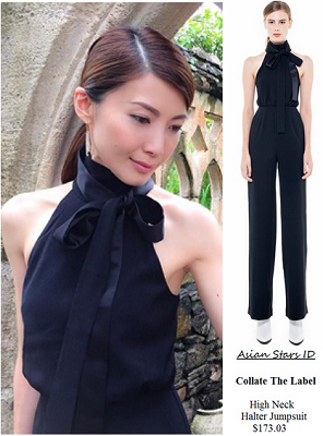 Instagram - Jeanette Aw: Collate The Label High Neck Halter Jumpsuit $173.03