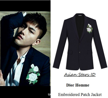 Style: Men Singapore February 2016 Issue - Shane Pow: Dior Homme Embroidered Patch Jacket