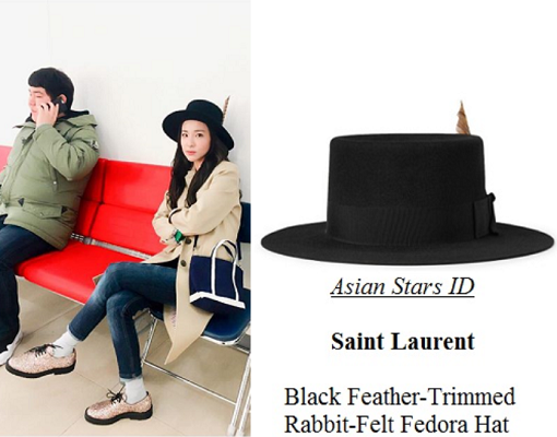 df2cd6a1d Instagram - Dara (2NE1): Saint Laurent Black Feather-Trimmed Rabbit ...