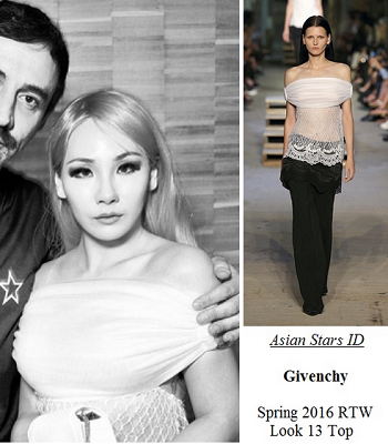 Instagram - CL (2NE1): Givenchy Spring 2016 RTW Look 13 Top