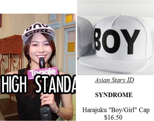 "Instagram - Bonnie Loo: SYNDROME Harajuku ""Boy/Girl"" Cap $16.50"