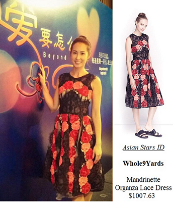 Beyond Words Press Conference - Paige Chua: Whole9Yards Mandrinette Organza Lace Dress $1007.63