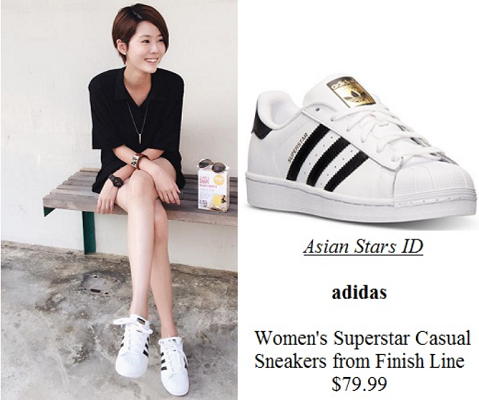Instagram - Carrie Wong: adidas Women's Superstar Casual Sneakers from Finish Line $79.99