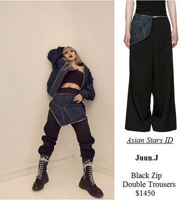 Highsnobiety Magazine Issue 12 - CL (2NE1): Juun.J Black Zip Double Trousers $1450