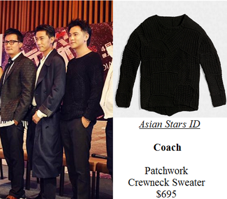 The Truth Seekers Press Conference - Ian Fang: Coach Patchwork Crewneck Sweater $695