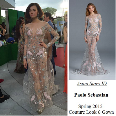 Star Awards 2016 Show 1 - Felicia Chin: Paolo Sebastian Spring 2015 Couture Look 6 Gown