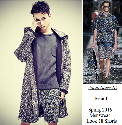 Men's Folio April 2016 Issue - Aloysius Pang: Fendi Spring 2016 Menswear Look 18 Shorts