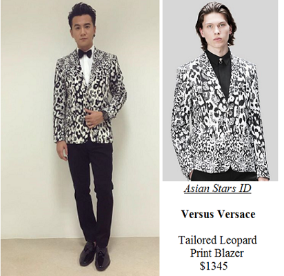 Star Awards 2016 Show 2 - Ian Fang: Versus Versace Tailored Leopard Print Blazer $1345