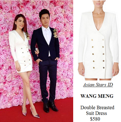 Malaysia F&B Starlight Avenue Launch Event - Sora Ma: WANG MENG Double Breasted Suit Dress $580